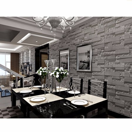 1 Roll 57sqft 3937 X 21 Waterproof DIY 3D Brick Sticker Non Woven Wallpaper Wall TV Background Paper Decor Art Home Decal Gifts