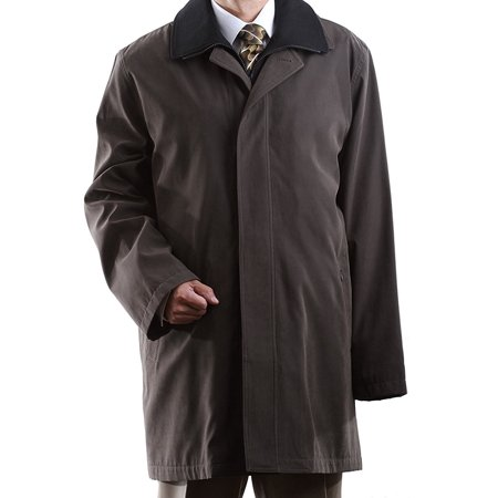 3/4 Length Raincoat - Men's Single Breasted Olive 3/4 Length All Year Round Raincoat