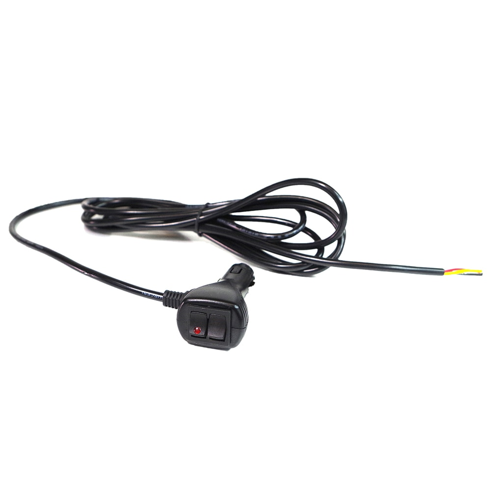 Xprite 12V 10ft Cigarette Lighter Extension Wire With On Off Switches