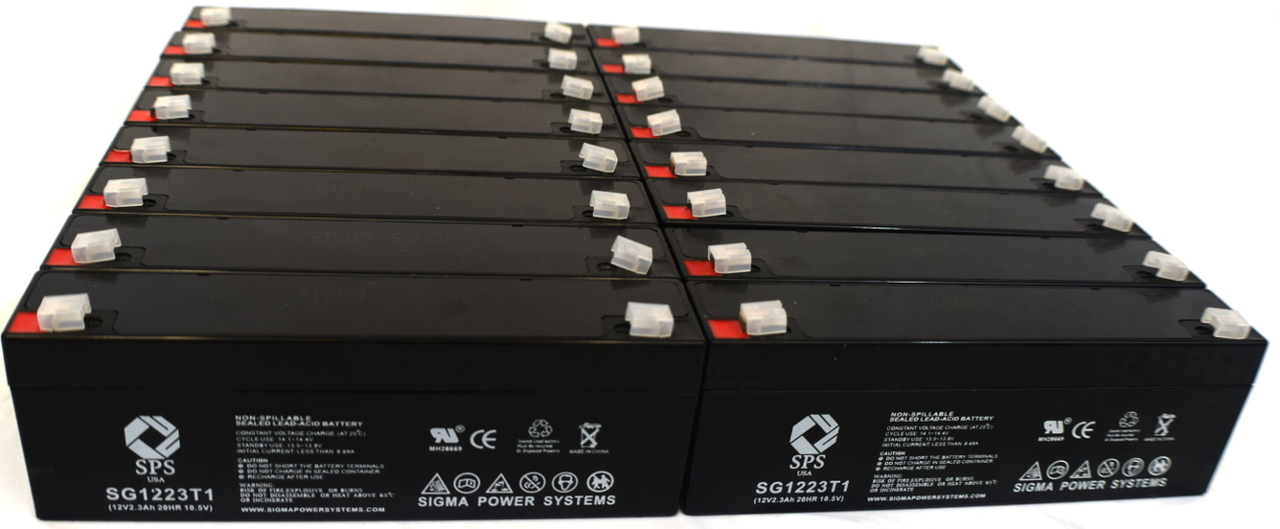 SPS Brand 12V 2.3 Ah Replacement Battery for Siemens SERVO 300A (12 pack) by