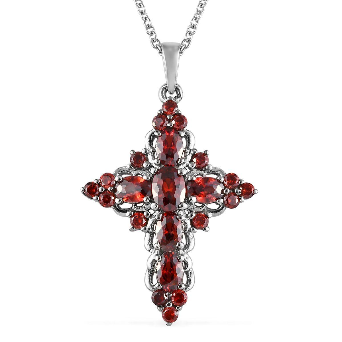 "White Cubic Zirconia CZ Triple Strand Heart Chain Pendant Necklace for Women 20/"""