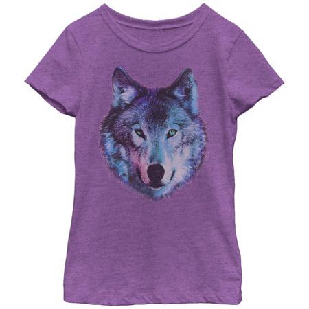lost gods girls wolf face t shirt walmart com