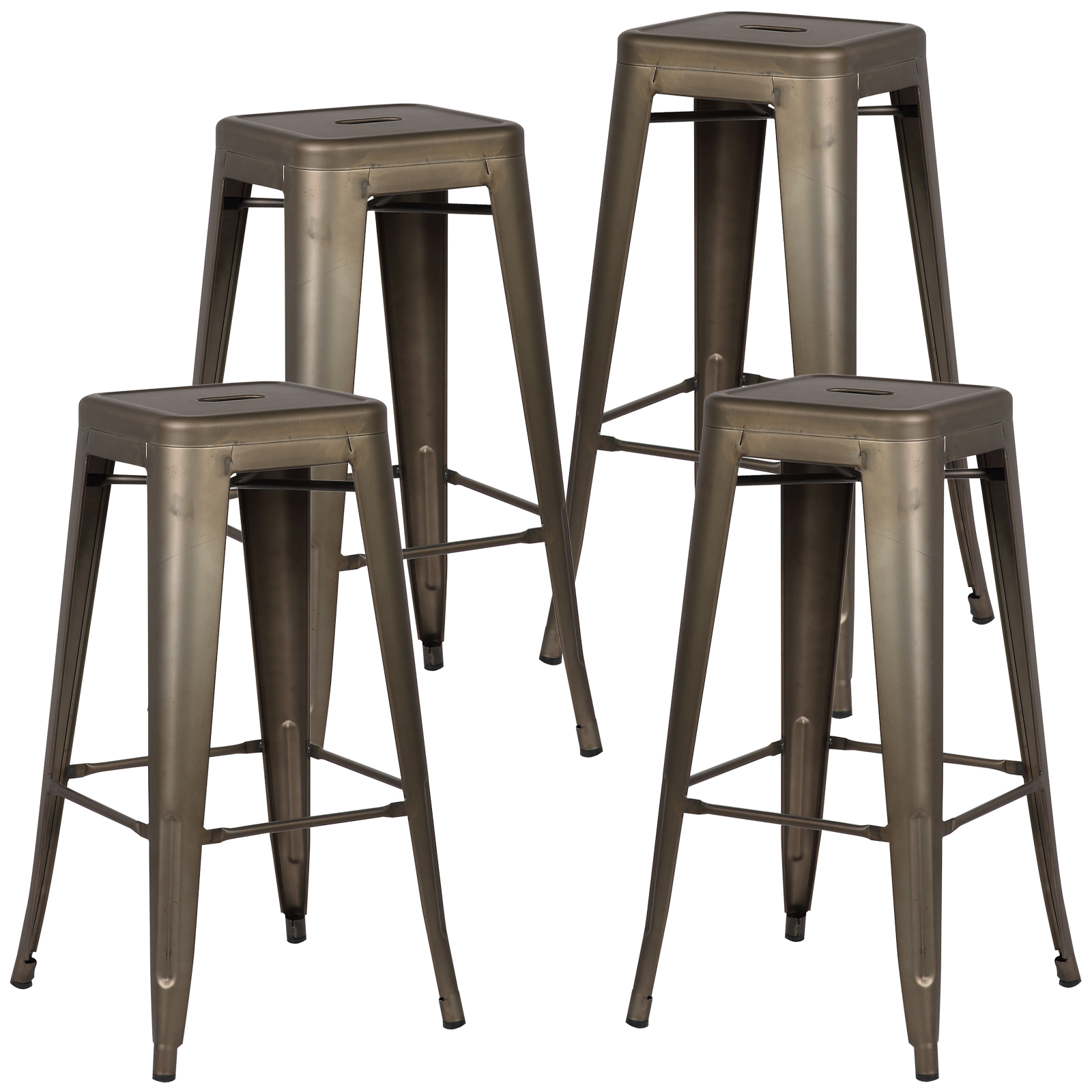 Poly and Bark Trattoria Bar Stool in Bronze (Set of 4)