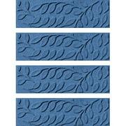 Tucker Murphy Pet Beaupre Medium Blue Leaf Stair Tread (Set of 4)