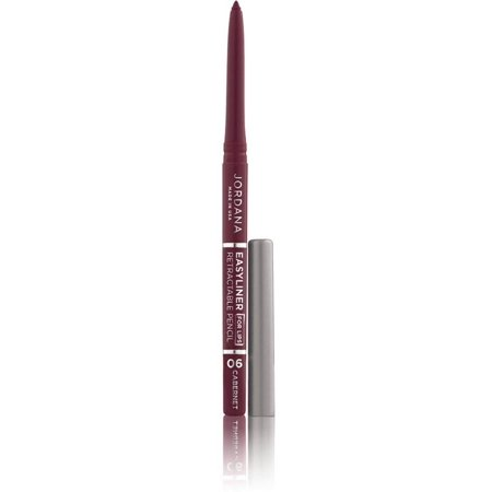 Silk Lip Pencil - 3 Pack - Jordana  Easyliner Retractable Lip Pencil, Cabernet 1 ea