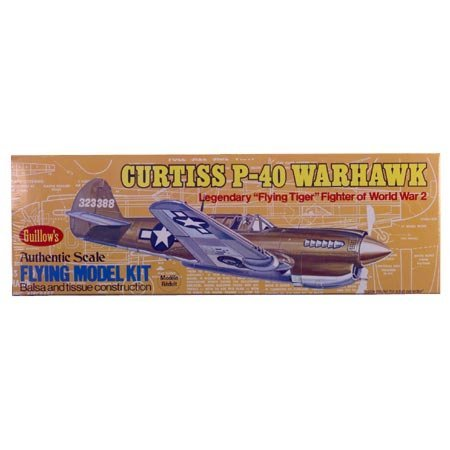 Guillows Curtiss P40 Warhawk Model Kit