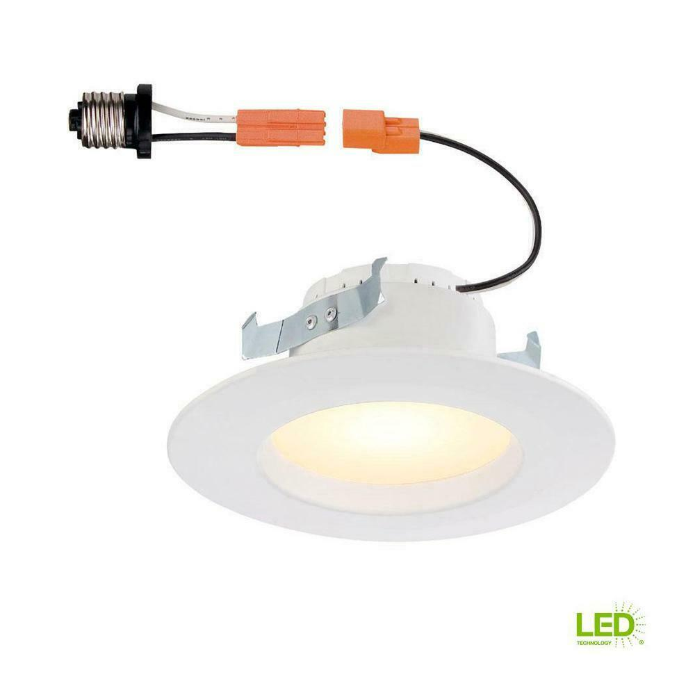 Commercial Electric 4 in White Recessed LED Trim