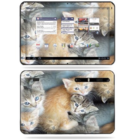 Mightyskins Protective Vinyl Skin Decal Cover For Motorola Xoom Tablet Wrap Sticker Skins Kittens