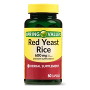 Spring Valley Red Yeast Rice Capsules, 600 mg, 60 Ct