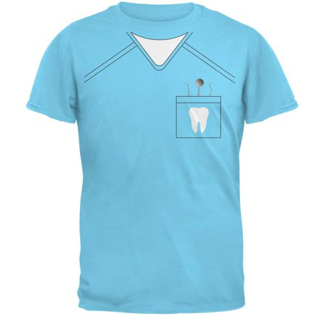 Halloween Dentist Scrubs Costume Sky Adult T-Shirt