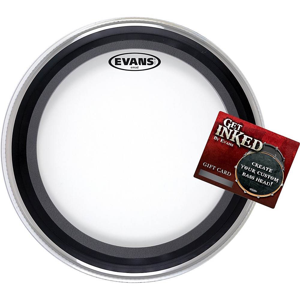 "Evans EMAD Bass Drumhead Pack 22"" with INKED by Evans Gift Card"