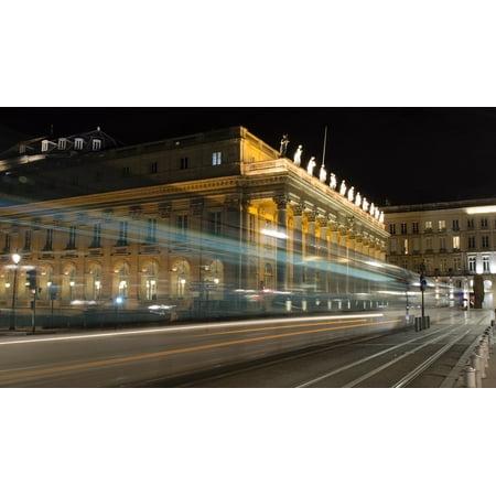 Canvas Print Grand Theatre Grand Th?âtre Bordeaux Stretched Canvas 32 x 24