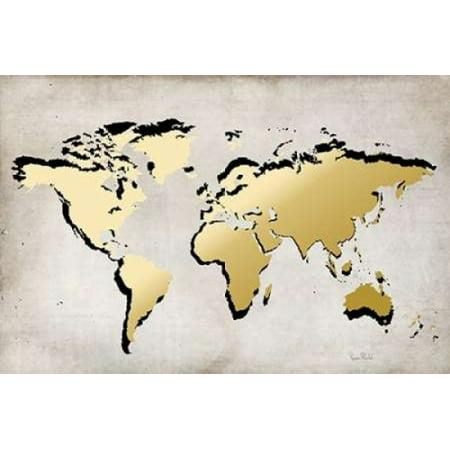 World Map Poster Print By Ramona Murdock Walmart Com