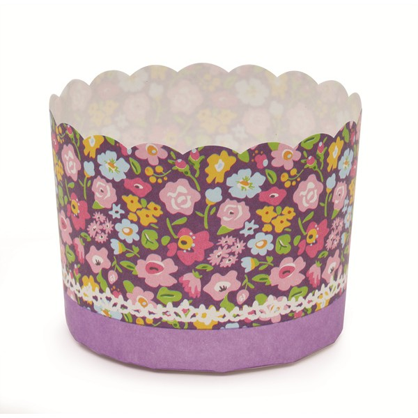 2.3Dia. x 2H Baking Cup Purple Flower,Case of 500