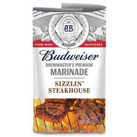 (2 Pack) Budweiser Sizzlin Steak Marinade