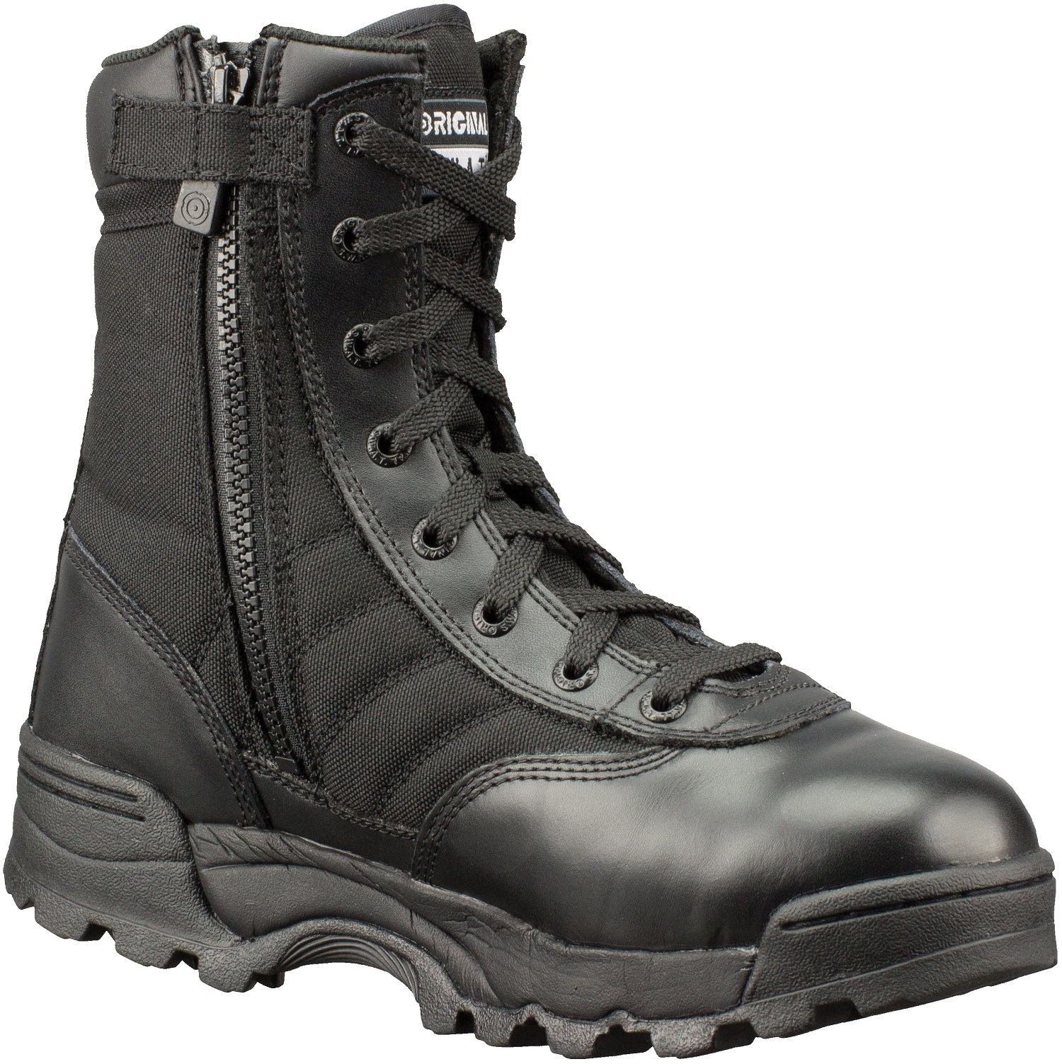 "Original Swat Men's Classic 9"" Tactical Police Military Boots Side Zip 1152"