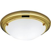 "Progress Lighting P3561 Eclipse 15-1/4"" Two Light Flush Mount Ceiling Fixture"