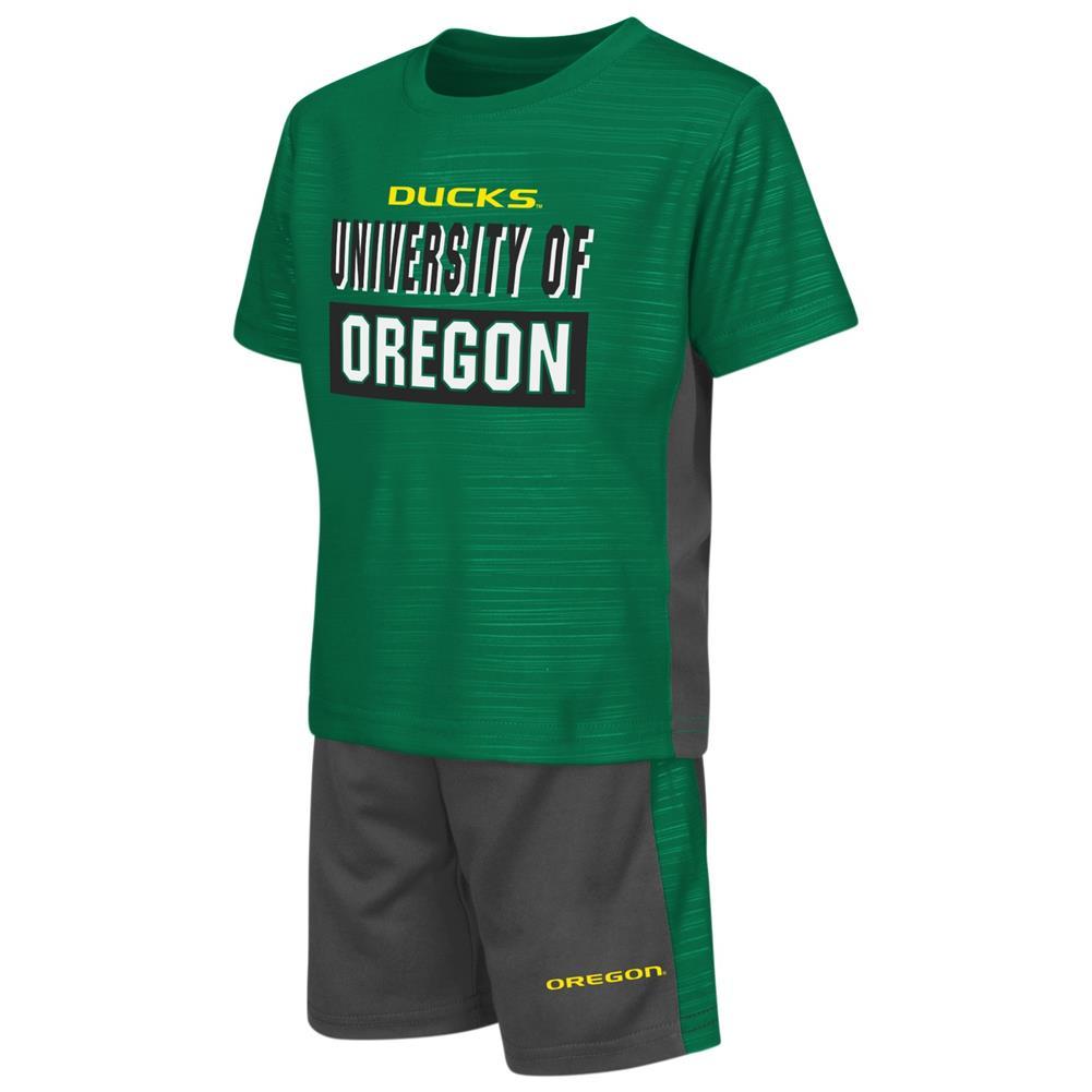 University of Oregon Ducks Toddler T-Shirt and Shorts 2 Piece Set