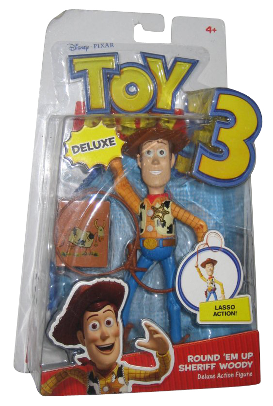 Disney Toy Story 3 Deluxe Round 'Em Up Sheriff Woody Mattel Action Figure by Mattel