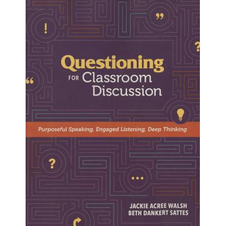 Questioning for Classroom Discussion : Purposeful Speaking, Engaged Listening, Deep