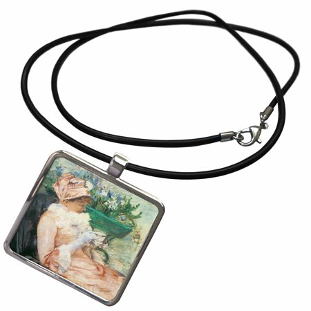 Teacup Pendant (3dRose The Cup of Tea by Mary Cassatt - Necklace with Pendant)