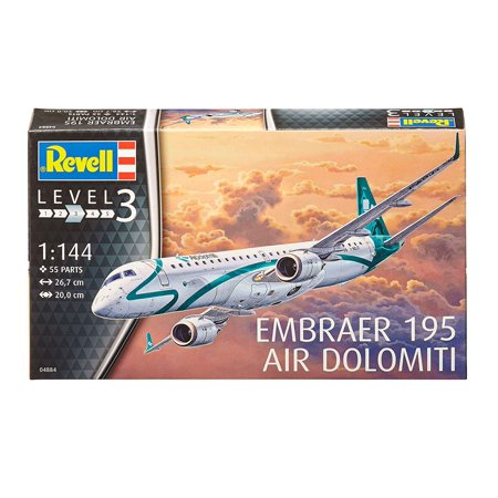 Revell Model Kit Embraer 195 Air Dolomiti, Skill level: 3 By Revell of (Level 2 Model Kit)