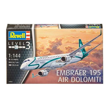 Revell Model Kit Embraer 195 Air Dolomiti, Skill level: 3 By Revell of Germany