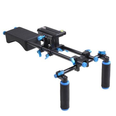 Studio DSLR Rig Video Camera Camcorder Shoulder Mount Stabilizer w/Dual Handgrip - image 9 de 9