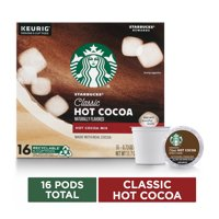 Starbucks Classic Hot Cocoa K-Cup Pods Pods for Keurig Brewers 1 Box (16 Pods)