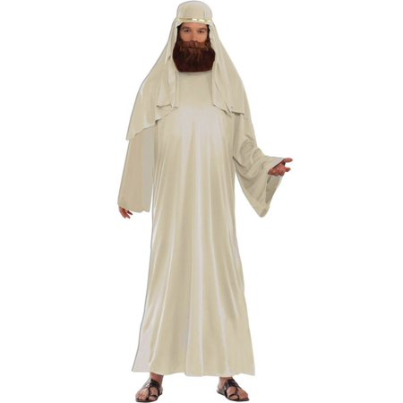 Adult Ivory Biblical Robe with Headdress Costume - Biblical Costumes Ideas
