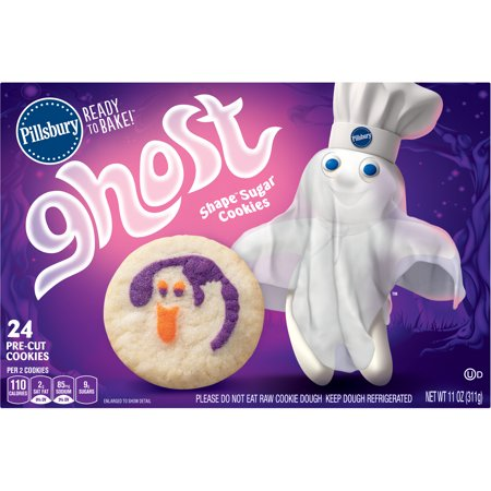 Pillsbury Ready To Bake Ghost Shape Sugar Cookies 11 0 Oz