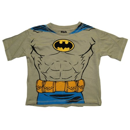 Batman DC Comics Embroidered Logo Muscle Chest Costume Toddler T-Shirt Tee