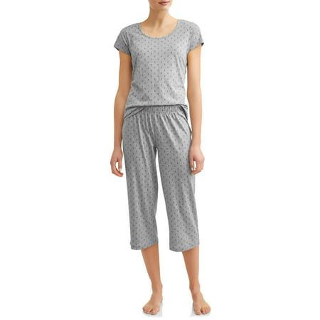 Knit Sleep Tee (JV Apparel Women's and Women's Plus Knit 2-Piece Sleep Set )