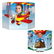 Pack of 6 Biplane/Hot Air Balloon Photo Props 37'' x 25''