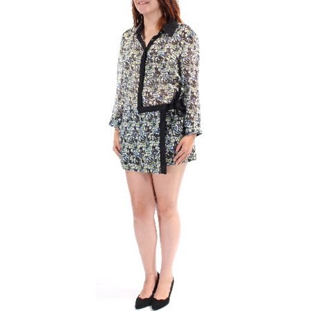 22a9be81361 Rachel Roy - RACHEL ROY Womens Green Tie Front Flap Toucans Cuffed Collared  Button Up Romper Size  6 - Walmart.com