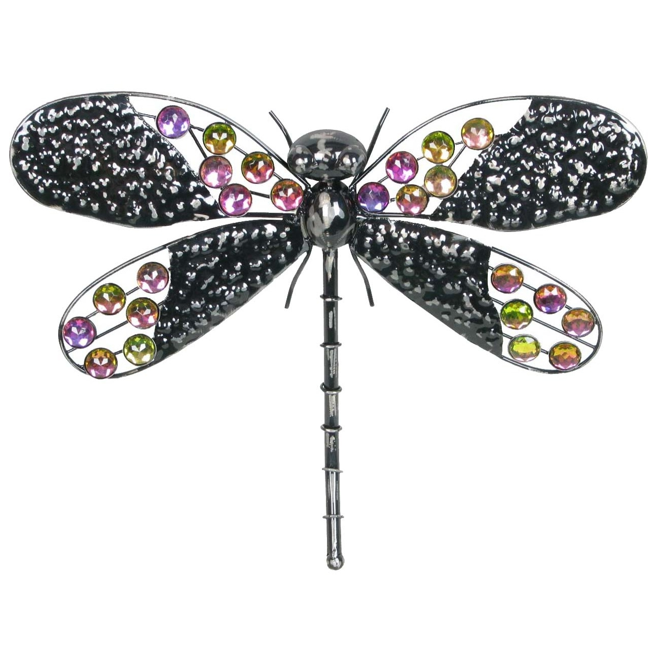 "Very Cool Stuff 16"" Rainbow Bling Dragonfly"