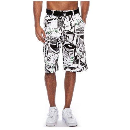 True Rock Men's Benjamin Belted Cargo Walking Shorts