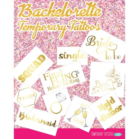 Bachelorette Party Temporary Tattoo Pack - Bachelorette Temporary Tattoos