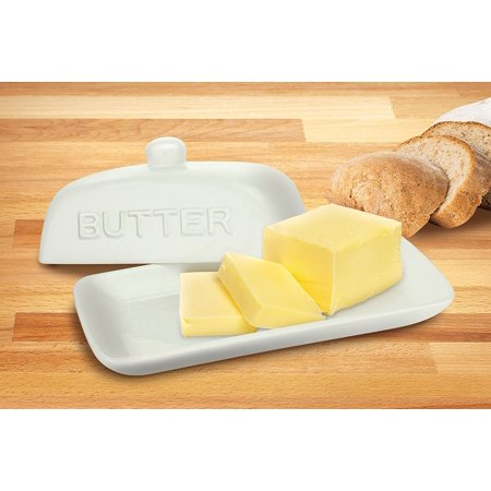 (KOVOT Ceramic Butter Dish And Cover - UPDATED Knob For Improved User Performance)