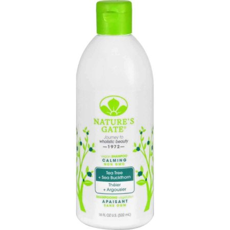 Nature's Gate Tea Tree + Sea Buckthorn Vegan Calming Shampoo 18 oz, Provides soothing, healing and anti-inflammatory benefits By Natures Gate