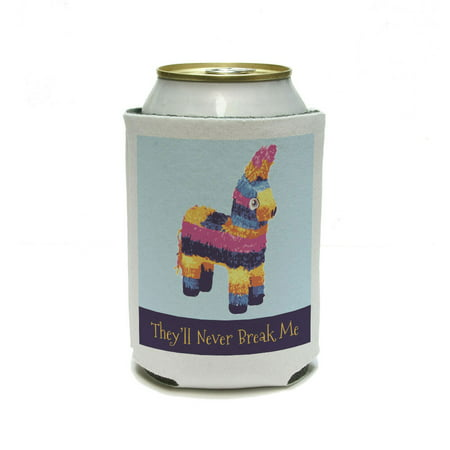 Donkey Pinata Never Break Funny - Mexican Fiesta Cinco De Mayo Can Cooler Drink Insulator Beverage Insulated -