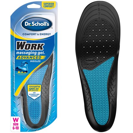 - Dr. Scholl's WORK Massaging Gel Advanced Insoles, 1 Pair (Women's 6-10)