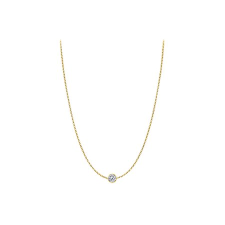 Diamond Necklace in 14kt Yellow Gold 0.25 CT Total Diamond - image 1 of 2