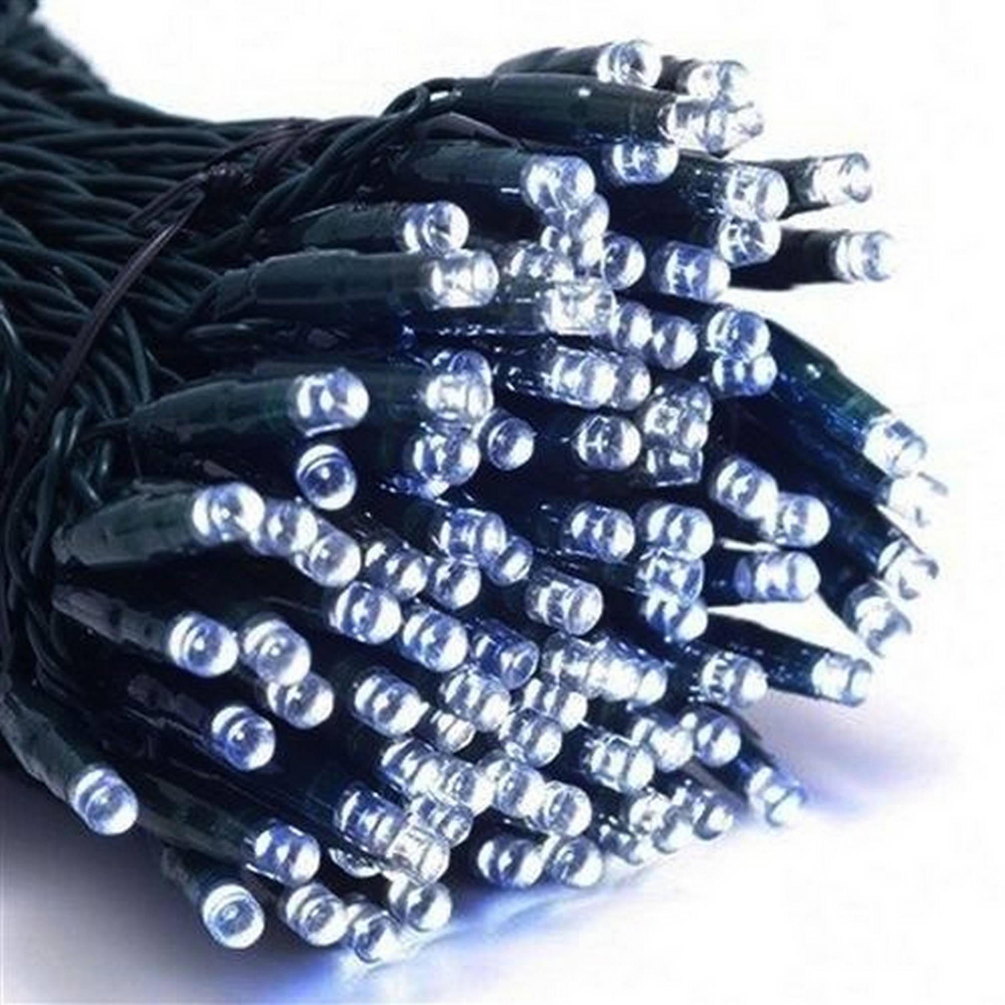ALEKO 200 LED Solar-Powered Holiday String Lights, Blue