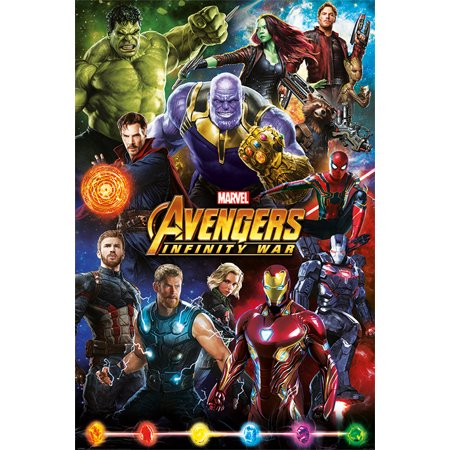 Avengers: Infinity War - Movie Poster / Print (Character Montage - Good Vs. Evil) (Size: 24