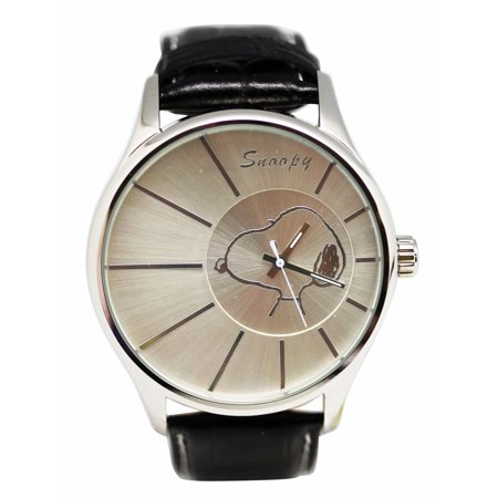 Faux Leather Band Watch With Rising Sun Watch Face (40mm)