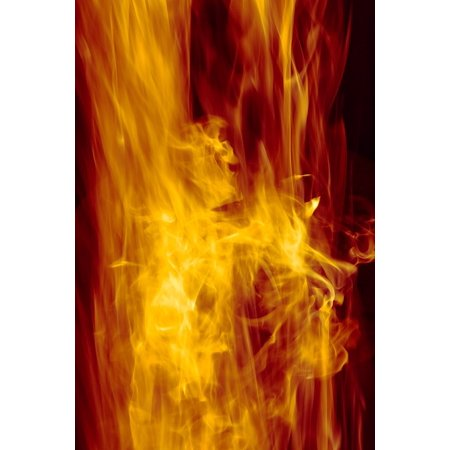 LAMINATED POSTER Fire Heat Blaze Hot Orange Red Flame Poster Print 24 x