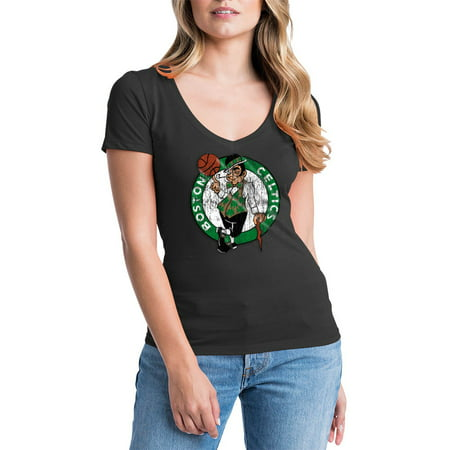 Boston Celtics Womens NBA Short Sleeve Baby Jersey V-neck