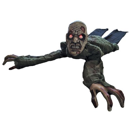 Animated Crawling Zombie with Lights & Sound Halloween Decoration