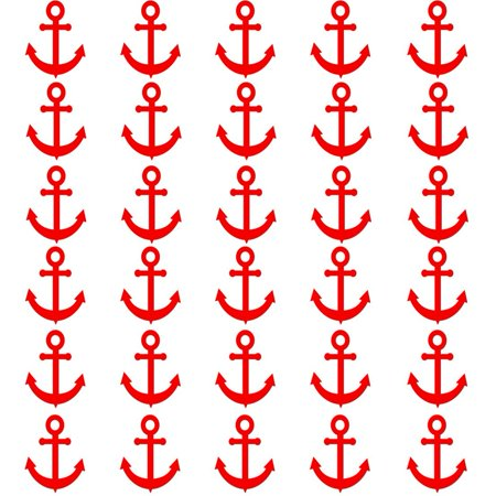 VWAQ Sailor Anchor Wall Stickers - Nautical Anchor Wall Decals - 30 Pack VWAQ - Red Uv Paint